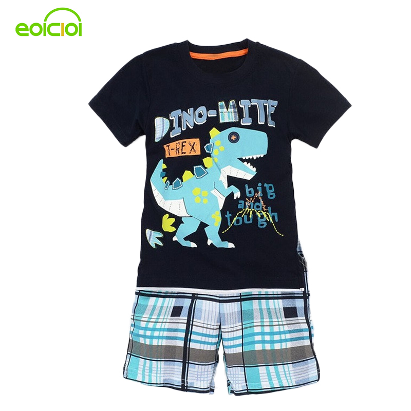 EOICIOI Baby boy clothes summer Kids Clothes Sets Short Sleeve Boy T-shirt Pants Suit Clothing Set Newborn Sport Suits Children baby boy clothes monkey cotton t shirt plaid outwear casual pants newborn boy clothes baby clothing set