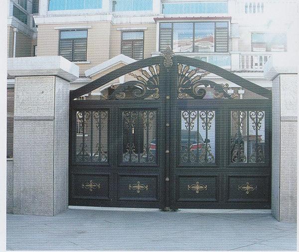 Hench 100% Handmade Forged Custom Designs Aluminum Fence Gate Designs Hc-ag10