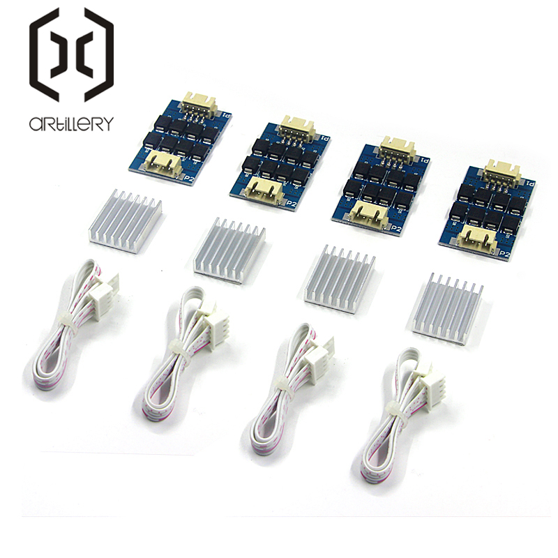 4 piece   piece TL-smoother PLUS Plug-In Module for 3D Pinter Motor Driver   Heat Sink Sheet Motor Driver Terminator Reprap MK8