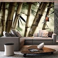 [Self Adhesive] 3D Bamboos Pattern 63 Wall Paper mural Wall Print Decal Wall Murals