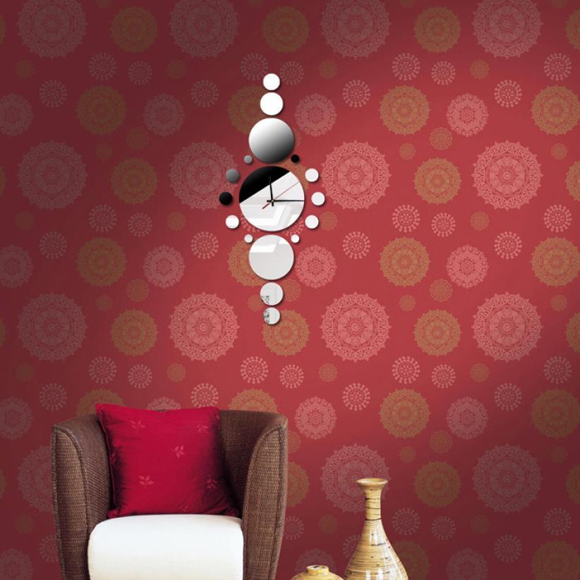 Perfect Classic Creative Smart Fashion Design Modern Style DIY Mirror Wall Clock  Wall Sticker Home Decorvinilos Decorativos