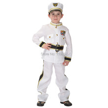 Halloween children's traffic army police clothing navy sailors clothing children show costume for cosplay costume