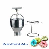 Manual de Operação Da Mão de Aço Inoxidável Máquina de Donut Donut Produtor Donuts Mini Dispositivo de Produção