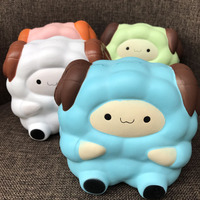 1PC New 13 5CM Soft Colossal Squishy Sheep Cream Scented Slow Rising Kids Toy Phone Straps