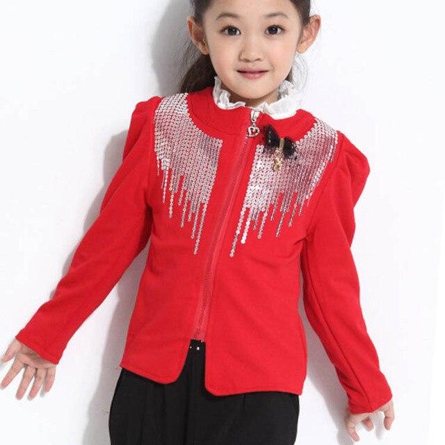 e30df3886 Brand Autumn Girls Jacket Children Blazer Outerwear Enfant Fashion ...