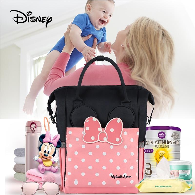 Disney Baby diaper bag USB Heat Maternity Nappy stroller bag baby care Mummy travel backpack Mickey
