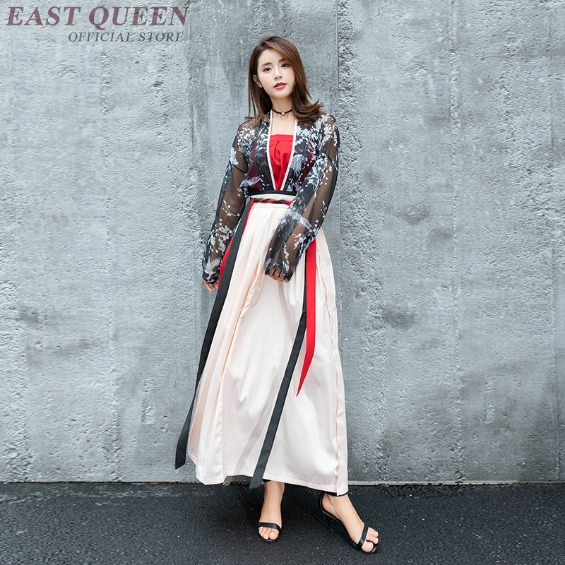Traditional Chinese Dress Women Clothes 2019 Hanfu Ancient Chinese Costume Stage Outfits Female Elegant Chinese Dresses DD959