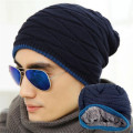 Fashion Winter Women Beanies Unisex Skullies Knit Hat Hot Sale Beanies Man Black Elastic Hip Hop Male Cap Gorro Warm 2016 M053