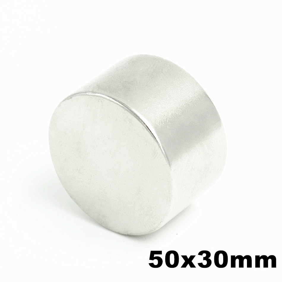 1 pcs N52 50mm x 30mm Super Puissant Forte En Vrac Small Round NdFeB Néodyme Disc Magnets Dia Rare terre NdFeB Aimant