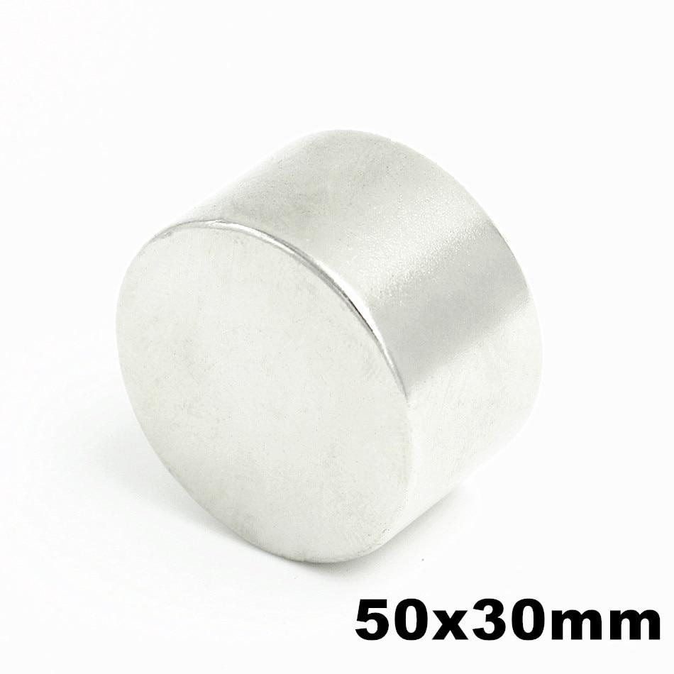 1 pz N52 50mm x 30mm Super Potente Forte All'ingrosso Piccola Rotonda NdFeB del Neodimio Disco Magneti Dia Rare terra Magnete di NdFeB