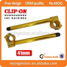 New 7/8″  Gold CNC Motorcycle Handlebars Clip-Ons 41mm Universal Fit For 41mm Fork Tubes