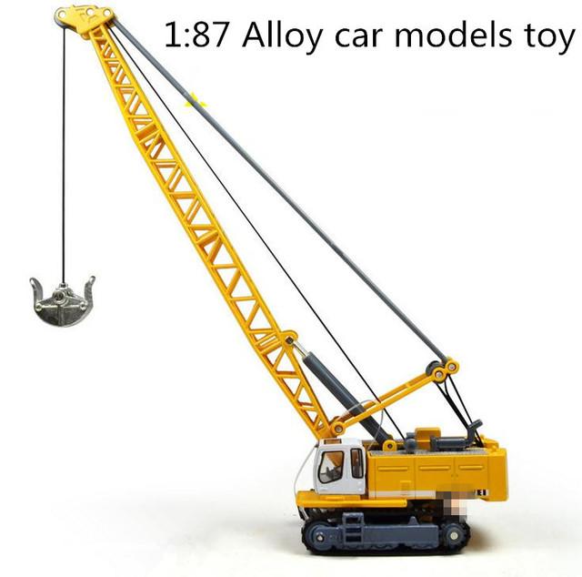 ¡ Venta caliente! 1: 87 se deslizan juguete vehículos de construcción de aleación modelo, modelo de camión excavadora de Cable, Envío libre, juguetes educativos del bebé