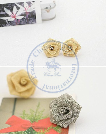 Stud Earrings ear rings Fashion for women Girls lady mesh roseo flower nice desgin CN post