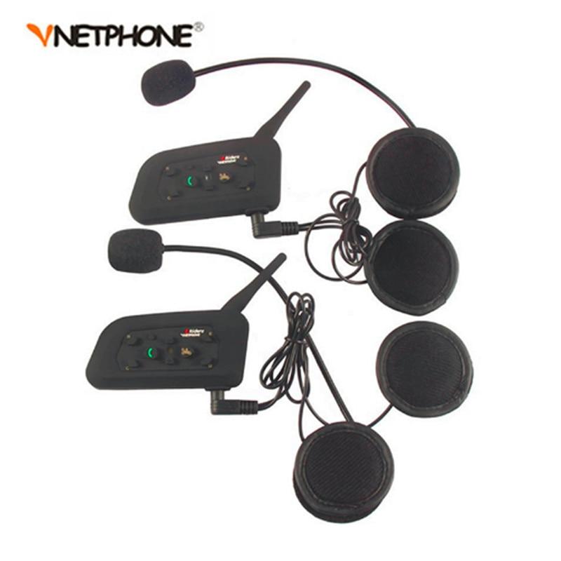 2 pcs V6 BT Multi Interphone Bluetooth Intercom Motorcycle Wireless Headphones Accessories 1200M Helmet Headset 6 Riders 6068 rdg kossel xl