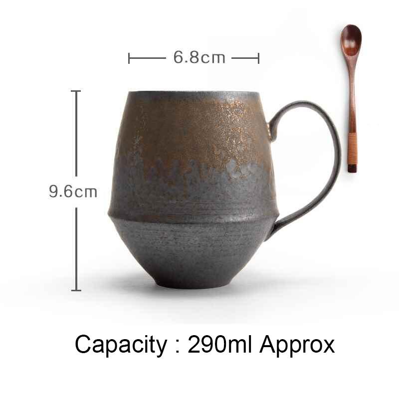 Tasse à café en céramique créative faite à la main de Style japonais tasse à thé de maître de poterie grossière Vintage cadeau d'anniversaire de thé