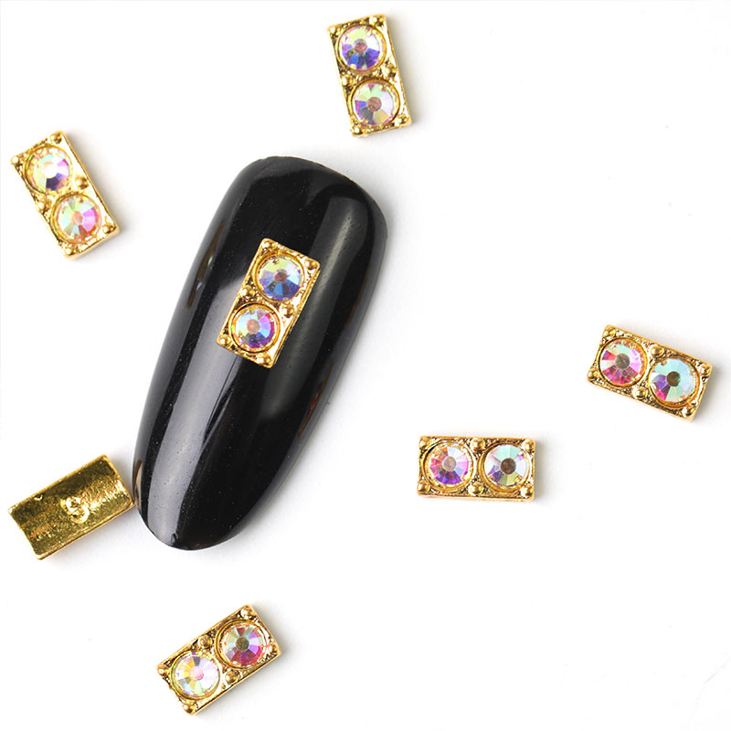 10 pieces 3D Nail Art Decorations Metal Sequins Rhinestones Nails Charms accessories For Manicure Decor
