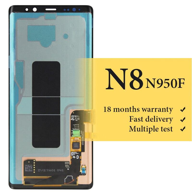Pour Samsung note 8 lcd écran 6.3 pouces 100% bon pas de pixel mort pour téléphone portable lcd N9500 N950F assemblage de remplacement