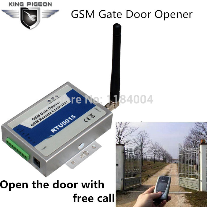 GSM Gate Door Opener Operator with SMS Remote Control (900/1800MHz) 1 Output/2 Inputs RTU5015 Remote switching with a FREE call free shipping rtu5015 upgrated rtu5024 gsm gate door opener operator with sms remote control alarm 1 output and 2 inputs app
