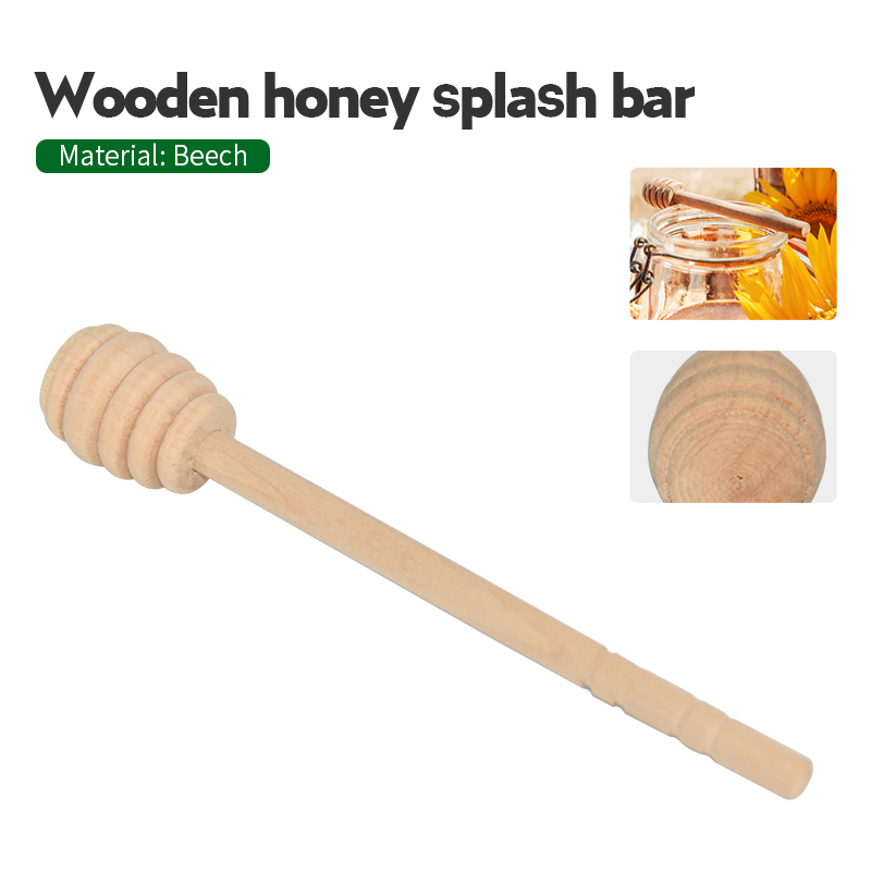 5 Pcs Honey Stir Bar Beekeeping Honey Tools Wood Honey Splash Bar Stirring Rod Hammer Beekeeping Supplies Tools