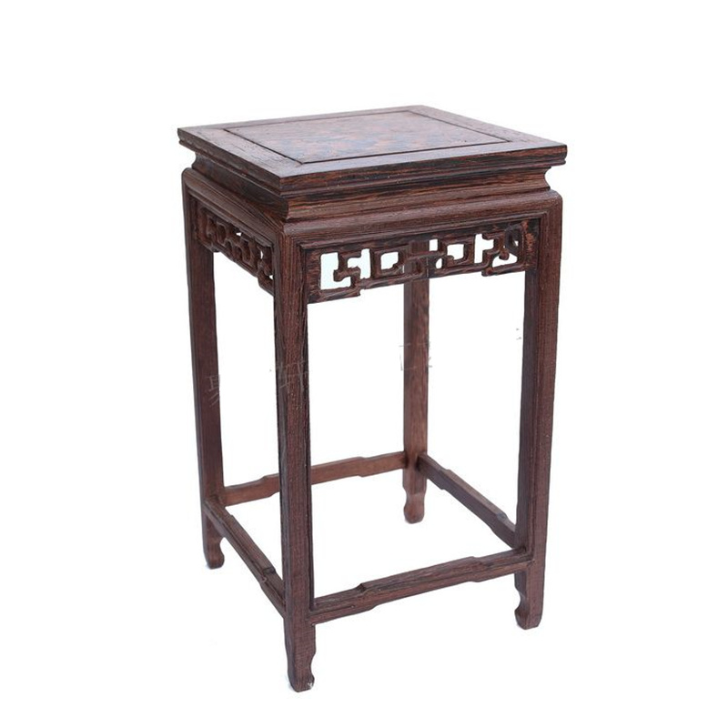 Wood Carving Handicraft Furnishing Articles Household Act The Role Ofing Tasted Wings Wood Square Vase Flowerpot Tank Base