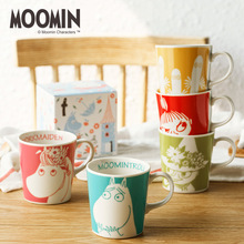 Finland Moomin Cartoon Ceramics Coffee Mug With Gift Box Household Lovers Cup  290ml High-end Gifts Little My Girl Caneca Hippo