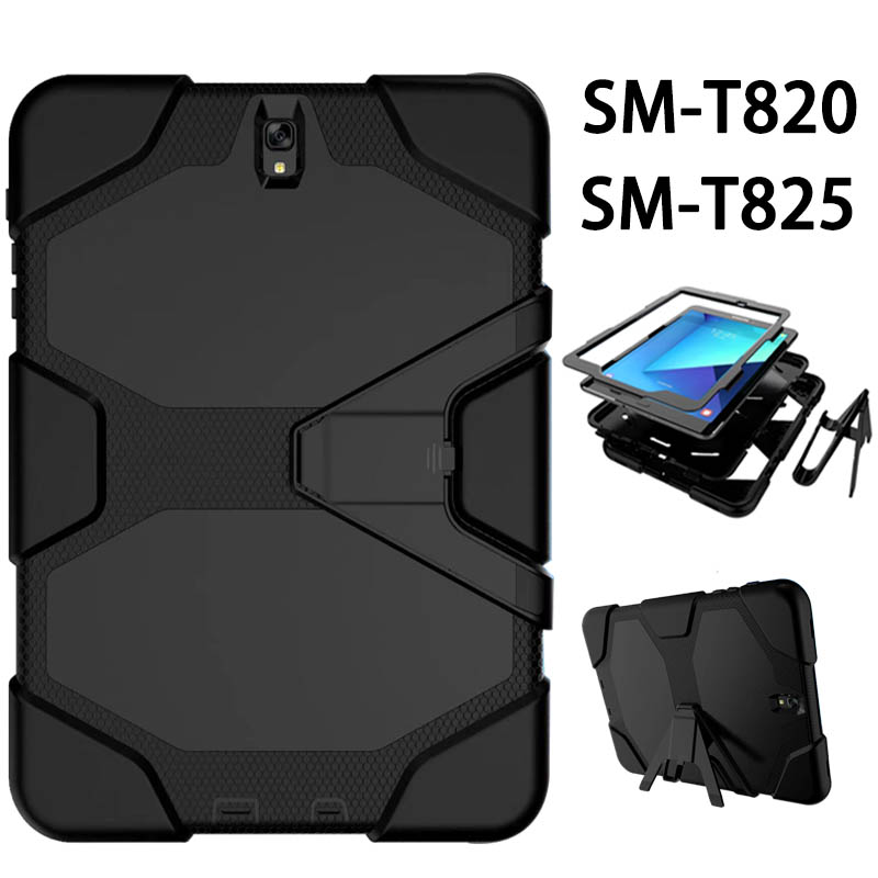 For Samsung Galaxy Tab S3 9.7 inch Tablet Case SM-T820 Drop resist Hybrid Armor PC Silicone Skin Cover for Tab S3 9.7 SM-T825 tab s3 t820 9 7 inch jean leather case cover protective stand skin for samsung galaxy tab s3 9 7 t820 t825 tablet smart fundas