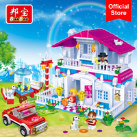 BanBao Happy Restaurant Building Blocks Bricks Educational Toy Model Children Girls Friend Kids 6103 Compatible With All Brands