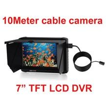 7″ LCD display DVR 10m cctv checking camera 120 deg lens 1080P 720P 60fps DVR camera cctv IP68 underwater endoscope camera cctv