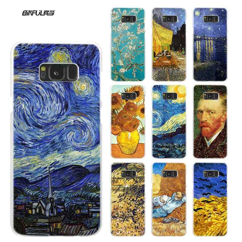 Sky van gogh For Samsung Galaxy Note 8 9 M30 M20 M10 S10 S9 S8 Plus S7 S6 Edge Hard Plastic Phone Case Cover Coque