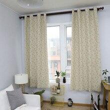 Cortina de Blackout estampada de flor pequeña de campo moderno para cortinas de tratamiento de ventana de dormitorio de sala de estar decoración sólida para el hogar