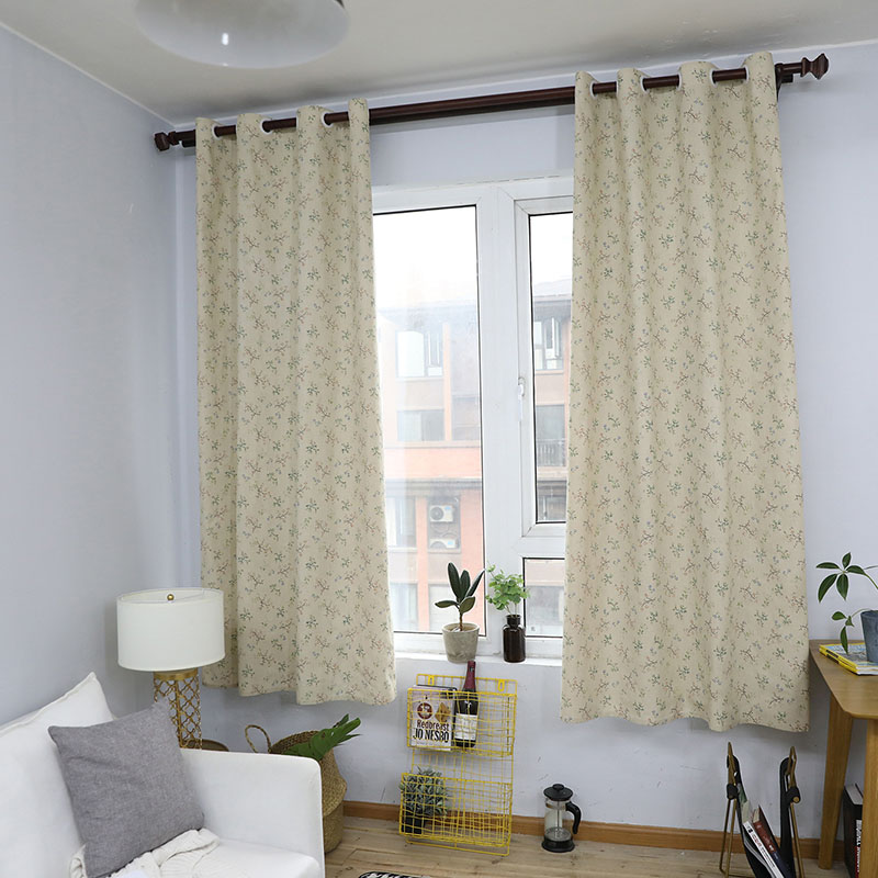 Image 1 - Modern Countryside Small Flower Printed Blackout Curtain For Livingroom Bedroom Window Treatment Drapes Solid Home Decoration-in Curtains from Home & Garden