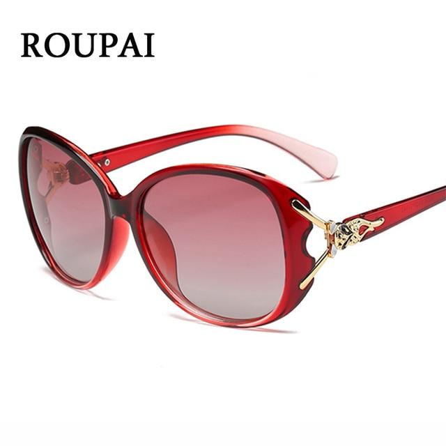 05354cb19ab ROUPAI 2018 Hot Latest Polarized Sunglasses Women Original Brand Red Oval  Fox Woman Sun Glasses Unique Large Frame Female Glases