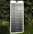 18 V 25 W Flexible Suave Mono Panel Solar Para 12 V Batería Autocaravanas Barcos Coches Techo Solar Celular Cargador 680*280*3mm