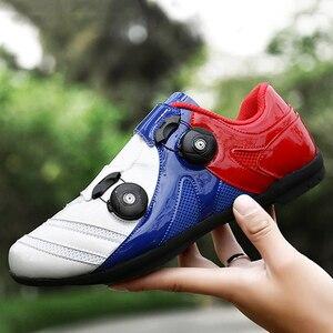 Image 2 - פנאי MTB כביש אופני נעלי גברים נשים נעלי רכיבה לא נעילת רכיבה על אופניים נעל mtb גומי סוליות ספורט נעלי Sapatilha Mtb ciclismo