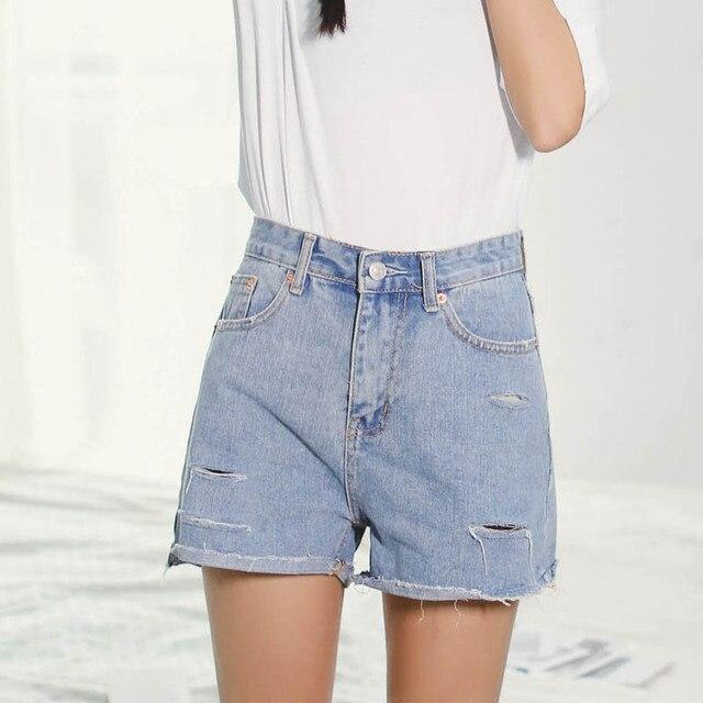 Fashion Women Sexy Hot Shorts Hole Summer Casual Denim Shorts Jeans High Waist Short