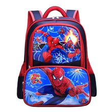 Spiderman Captain America Boys Girls Children School Bag 2019 New Primary Teenager Schoolbags Kids Student Backpacks 8-13 Years(China)