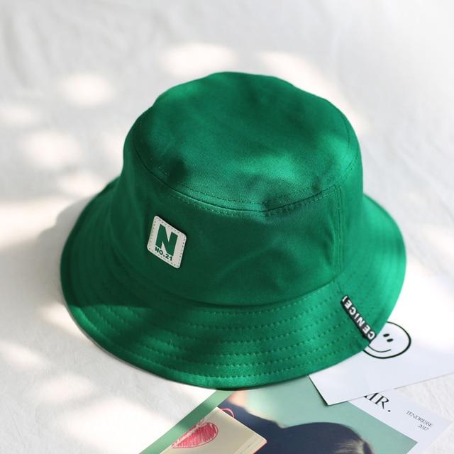 2018 green Bucket Hat Fisherman Hats Men Women Outer Summer Street Hip Hop  Dancer Cotton Panama City Hat 0c4c1ee14b48
