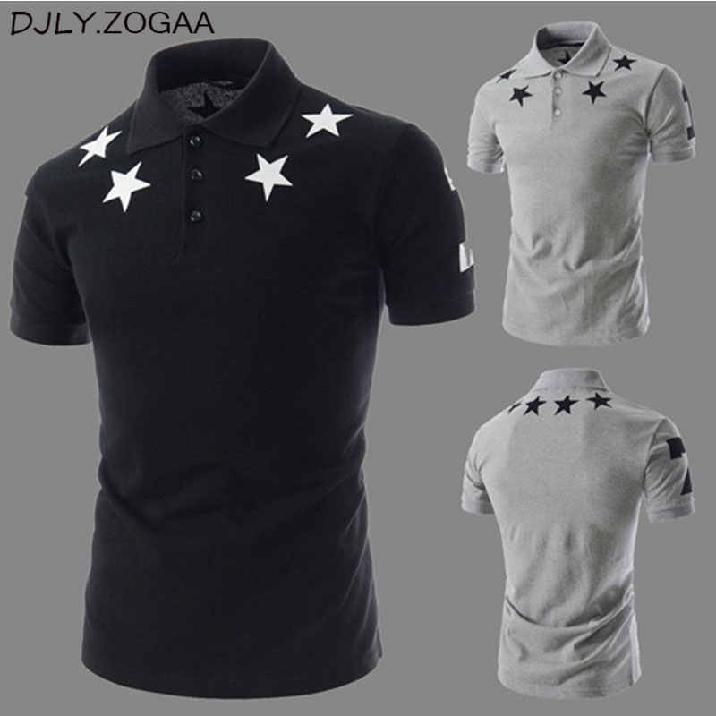 Geek New Summer Men's POLO Shirt Stars Printing Fashion Short Sleeve Men's printed short sleeved