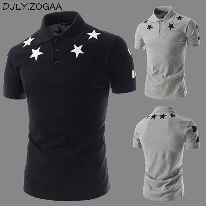 Geek New Summer Men's   POLO   Shirt Stars Printing Fashion Short Sleeve Men's printed short sleeved