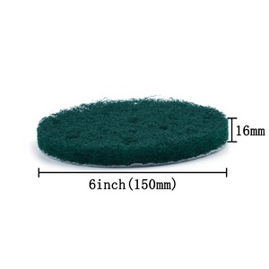 Image 3 - 12PCS 6 Inch 150mm 17 Hole Round Hook&Loop Industrial Scouring Pads Heavy Duty 240#/400#/1000# Nylon Polishing Pad for Cleaning