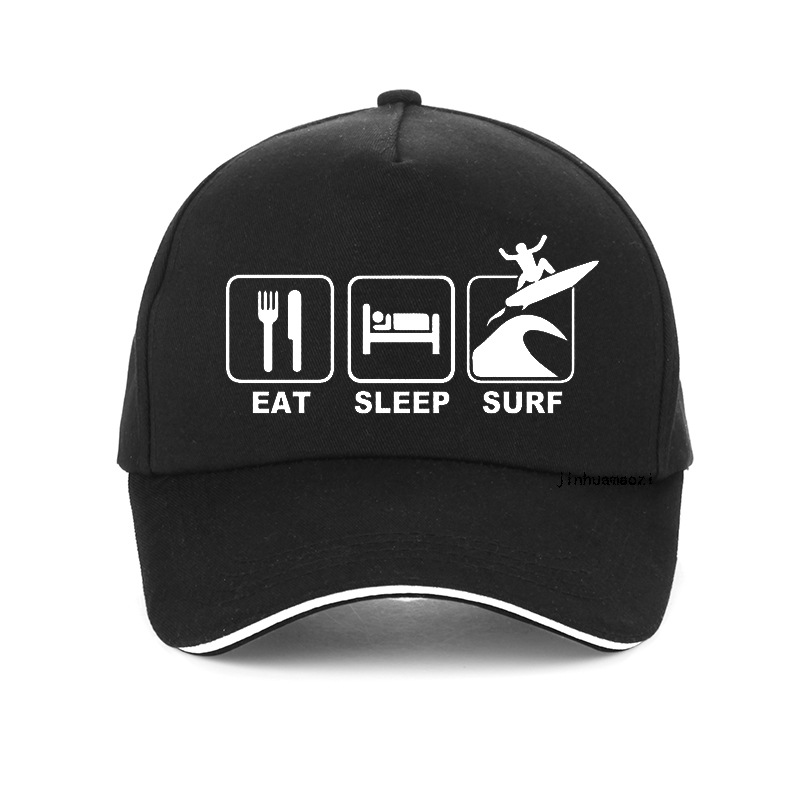 Eat Sleep Surf funny Letters cap 100% Cotton Women Men Adjustable Baseball Caps Bone Unisex Hip Hop Snapback hat