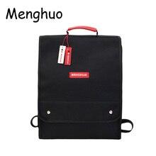 Menghuo Women Nylon Backpack Men Fashion Cover Book Bag Letter Print School Bagpack Lovers Rucksack female mochilas