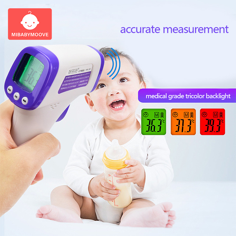Multi-function Baby Adult Digital Thermometer Forehead Non-contact Infrared With LCD Backlight