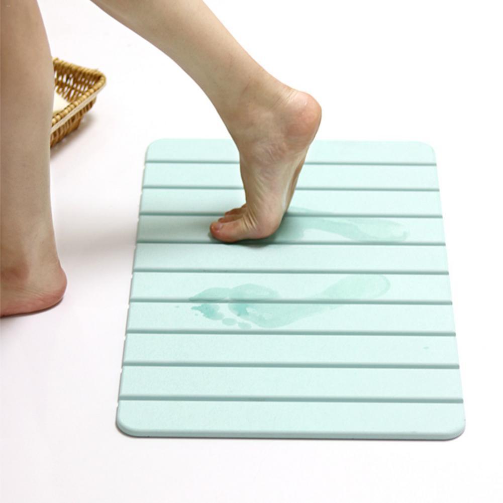 60x39cm tapis de bain salle de bain rayures horizontales tapis absorbant antidérapant naturel diatomée boue Pad tapis de bain fournitures pliables