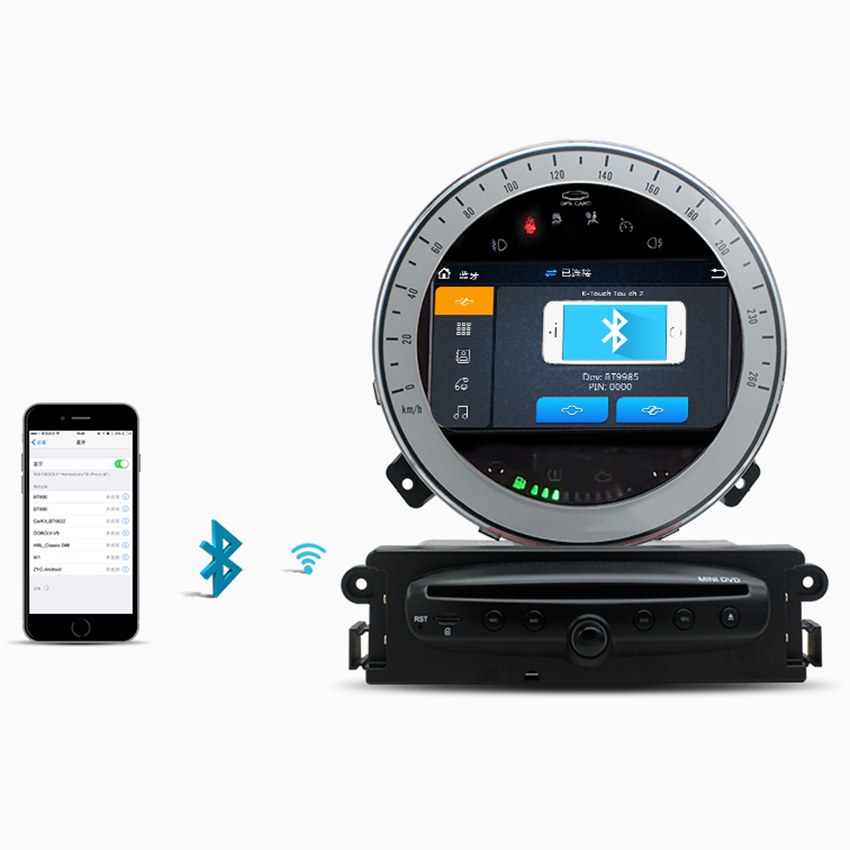 Para BMW Mini Cooper 2007-2017 Sistema Android Reproductor Multimedia Car Stereo