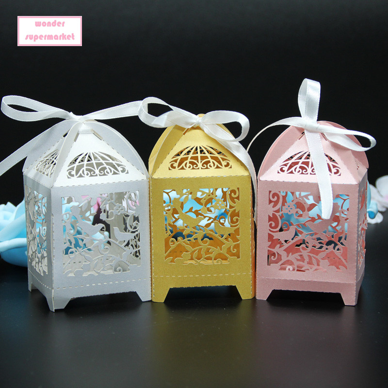 Wedding Favor Boxes For Cookies : Cut Wedding Favor Box Candy Box Party Supplies Candy Cookie Gift box ...