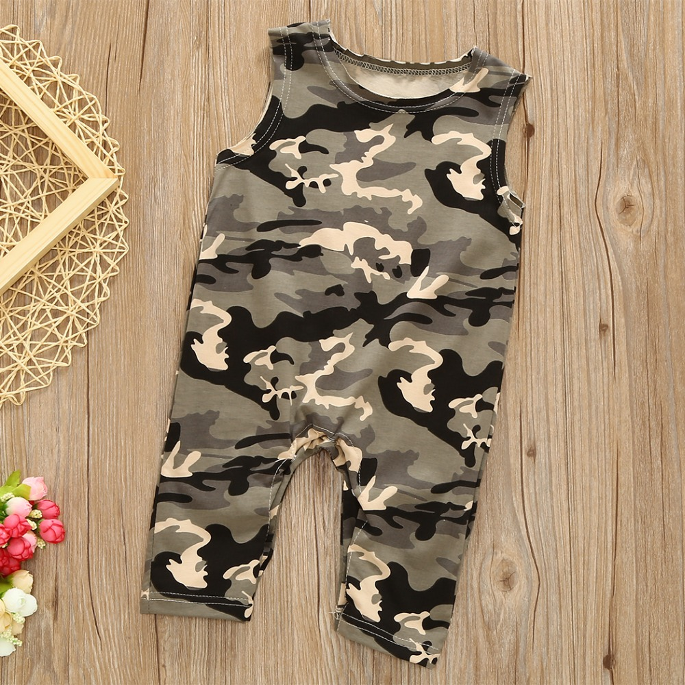 Toddler Baby Camouflage Sleeveless Romper Jumpsuit Summer Outfits Clothes Coming Home Outfit Summer Hunting Cotton Clothing 2017 summer toddler kids girls striped baby romper off shoulder flare sleeve cotton clothes jumpsuit outfits sunsuit 0 4t
