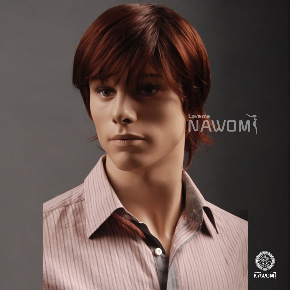 Super Quality Realife Looking Kanekalon Short Straight Wigs For Men