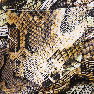 Image 4 - Sokotoo Mens fashion snakeskin print jeans Slim colored stretch denim pants for man