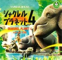 Japanese original capsule toys Shakurel Planet 4 Elephant antelope hippo Turtle Sea otter Gashapon figure Toy Collectible